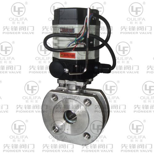 Subminiature Quarter Turn Electric Wafer Type V Port Ball